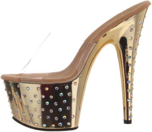 Sandali Donna Tacco Con gold 701 Clr Chrome Da Pleaser Stardust 4PwSqgH