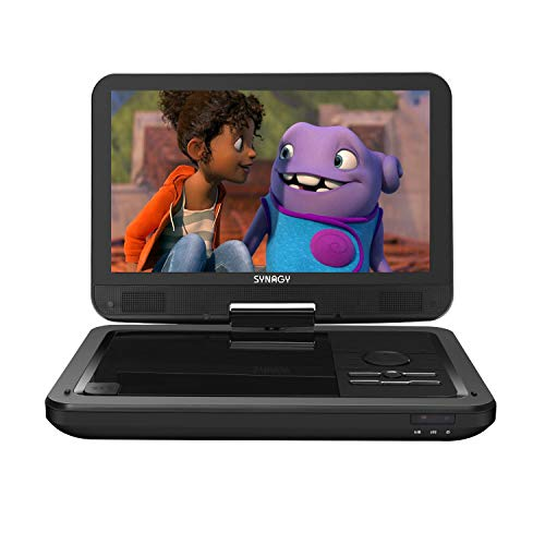 SYNAGY 12' Portable DVD Player with 10.1' Swivel Screen Remote Control Rechargeable Battery Car...