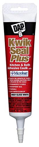 Dap 18526 White Kwik Seal Plus™ Kitchen & Bath Adhesive Caulk by DAP