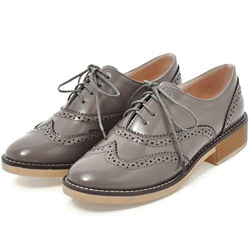 Donna Moda Oxford Grey Scarpe Zanpa x8BZx