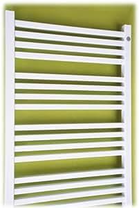 Diseño de baño radiadores 1110 x 500 de punto con conexión central blanco