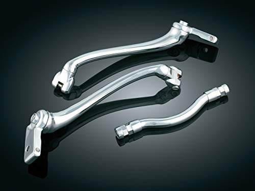 Kuryakyn 7841 Motorcycle Foot Controls: Extended Length/Long Cruise Arm Mark IV for 2000-17 Harley-Davidson FL Softail Motorcycles, Chrome