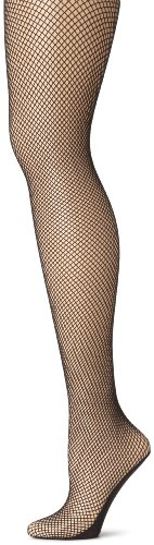 Capezio Women's Professional Fishnet Seamless Tight, Black, Medium/Tall