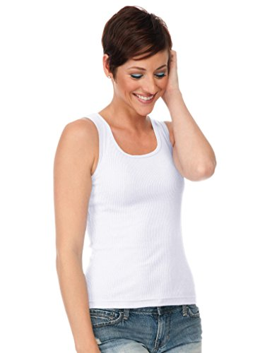 Kavio! Junior Boy Beater Tank White L (Ladies Boy Beater)