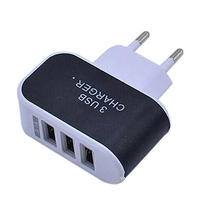 Orange Tuscom Triple USB Port 3.1A EU Plug for Home Travel Wall Charger,for Phones Cameras IPAD,MP3 Players