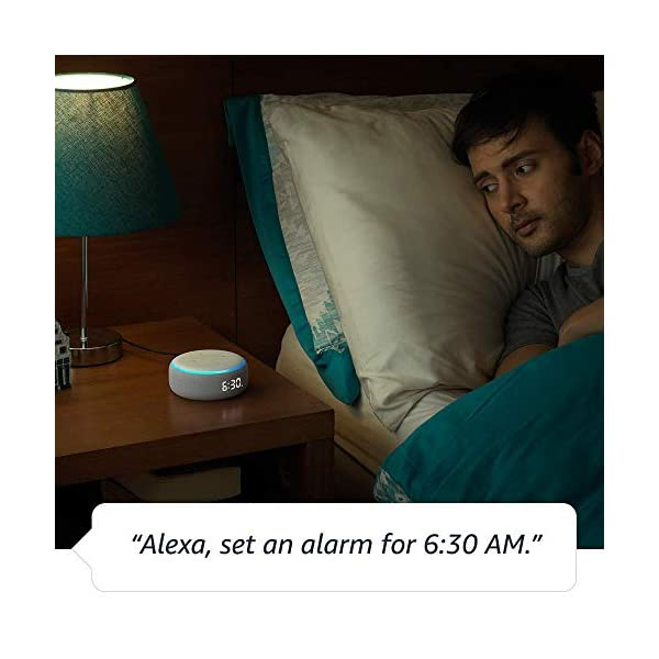 41YcJI9cWqL Echo Dot (3rd Gen) with clock - Smart speaker with Alexa and LED display (White)