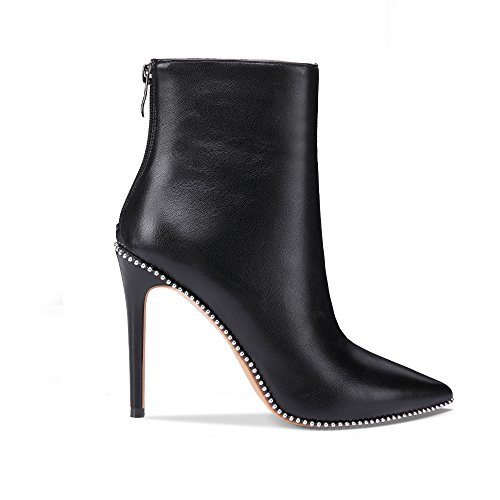 shop for sale onlymaker Pointed Toe Ankle Boots for Women Side Zipper Dress High Heels Shoes Booties Black buy cheap shop for amazing price cheap online U07zKsv