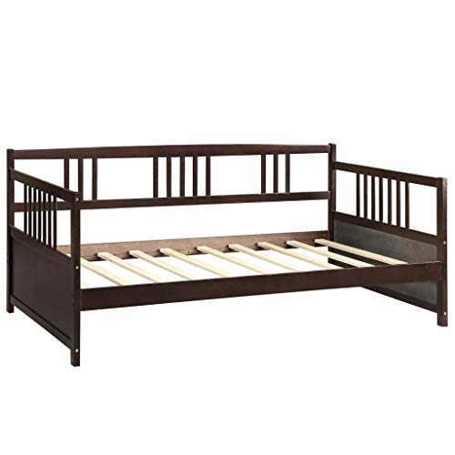 Harper & Bright Designs Wood Daybed Frame with Rails