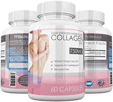 Premium Collagen Hydrolyzed By Collagen4me - Anti-Aging Nutritional Supplement - Natural Weight Loss Aid - Skin, Nails & Hair Rejuvenation - Supports Bone & Muscle Health – Supports Fat Metabolism –