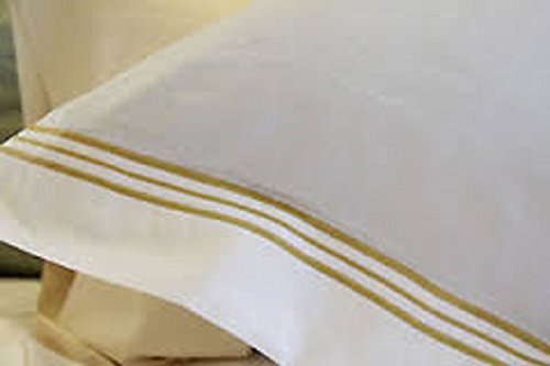 frette-triplo-bourdon-white-w-sand-gold-piping-euro-pillow-sham