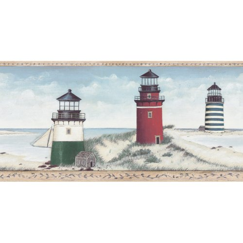 Blue Mountain Decorate By Color Blue Lighthouse Border BC...