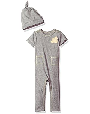 Baby Organic Cuffed Coverall and Hat