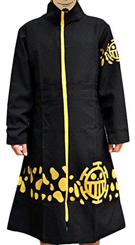 Pulla-A Anime ONE PIECE Cosplay 2nd Trafalgar Law Cloak Jacket Costume L