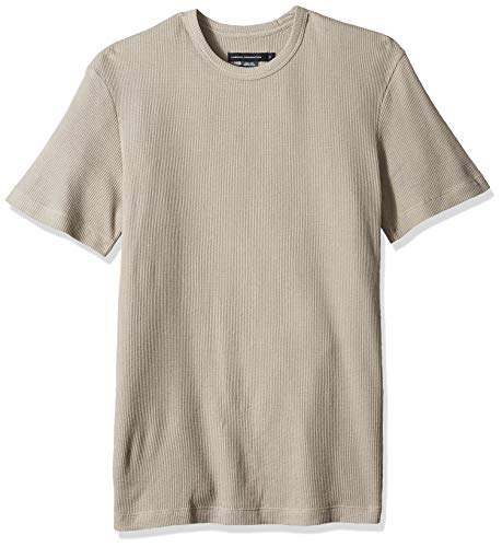 Connection Tee - French Connection Men's Waffle Jersey Tee, Short Sleeve Morning Dove, L