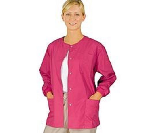Natural Uniforms Women's Warm Up Jacket (Hot Pink) (Small) (Plus Sizes Available)