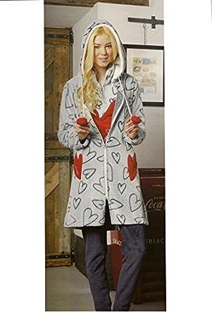bdf534a9fc Pigiamiamoci Women s Dressing Gown grey grey X-Large  Amazon.co.uk ...