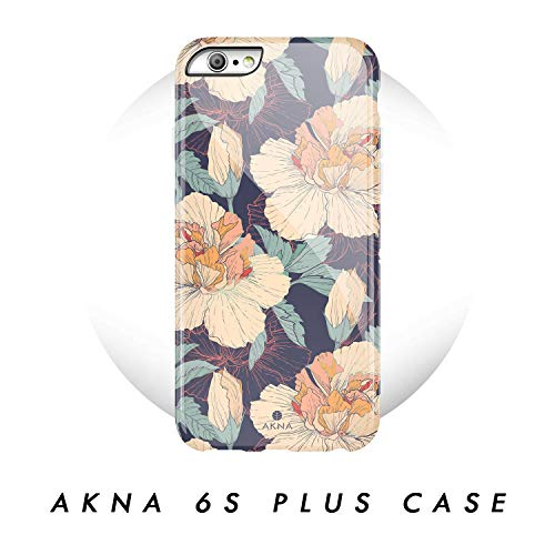 iPhone 6 Plus/iPhone 6s Plus case, Vintage Floral Pattern, Akna Hard Silicon Back Cover for Girls (361-U.S) (Iphone 4 Cases Floral Vintage)