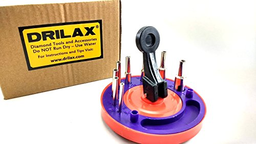 - Drilax Drill Bit Hole Saw Guide Jig Fixture for Tiles, Glass, Fish Tanks, Marble, Granite, Ceramic, Porcelain 8 pcs 5/32