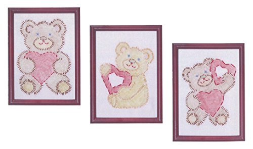 Jack Dempsey 6 x 8-inch Fuzzy Bears Stamped Embroidery Kit Beginner Samplers by Jack Dempsey ()