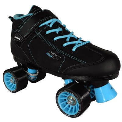 Pacer GTX-500 Black and Teal Roller Skates (Mens 9/Ladies 10) ()