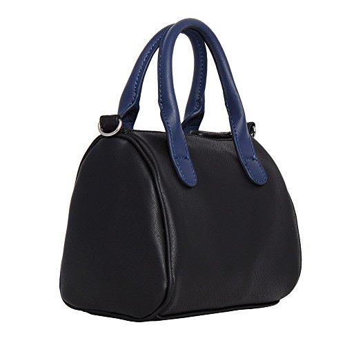 Kenneth Cole Reaction KN1522 CHUBS Design Mini Crossbody Messenger Bag (Black/Navy)
