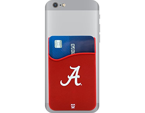 Alabama Crimson Tide Adhesive Silicone Cell Phone Wallet/Card Holder for iPhone, Android, Samsung Galaxy, & most Smartphones
