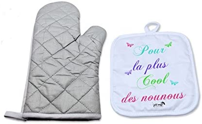 Papillon Sublimagecreations Tablier de Cuisine pour la Plus Cool des nounous Assistante Maternelle Enfant Nourice id/ée Cadeau