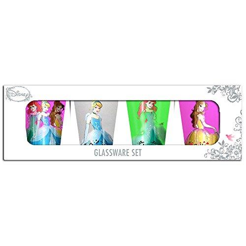 Silver Buffalo DP031SG2 Disney Princess Standing Mini Glass