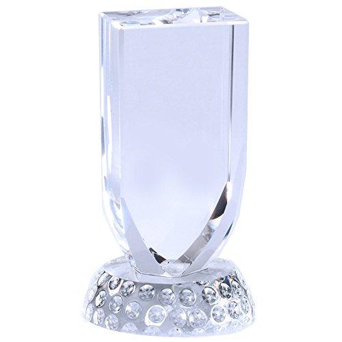 Optical Crystal Golf Award - Customizable 2-3/4 x 4-3/4 Inch Optical Crystal Golf Award, Shield on Golf Ball, Includes Personalization