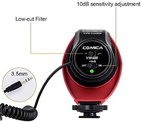 Micrófono de cámara Comica CVM-V30 Pro Micrófono de Video de ...