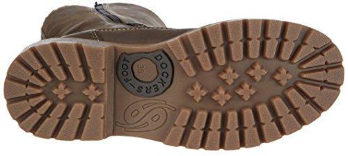 Dockers - Botas de cuero mujer Chocolate 010