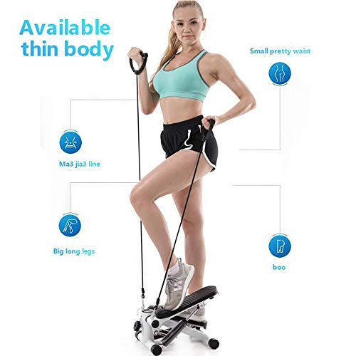 Iuhan  Health Fitness Mini Stepper with Band, Household Gym Hydraulic Mute Stepper Multi-Function Pedal Indoor Sports Stepper Legs by Iuhan  (Image #2)
