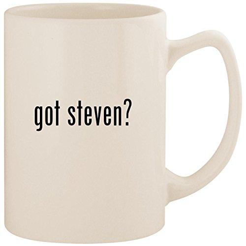 got steven? - White 14oz Ceramic Statesman Coffee Mug Cup