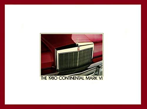 1980 CONTINENTAL MARK VI LINCOLN PRESTIGE VINTAGE COLOR SALES BROCHURE - 80-205 - USA - FABULOUS ORIGINAL !!