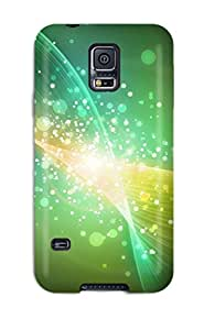 For Galaxy S5 Fashion Design Abstract Green Case-WCpVohG9509eQYSg