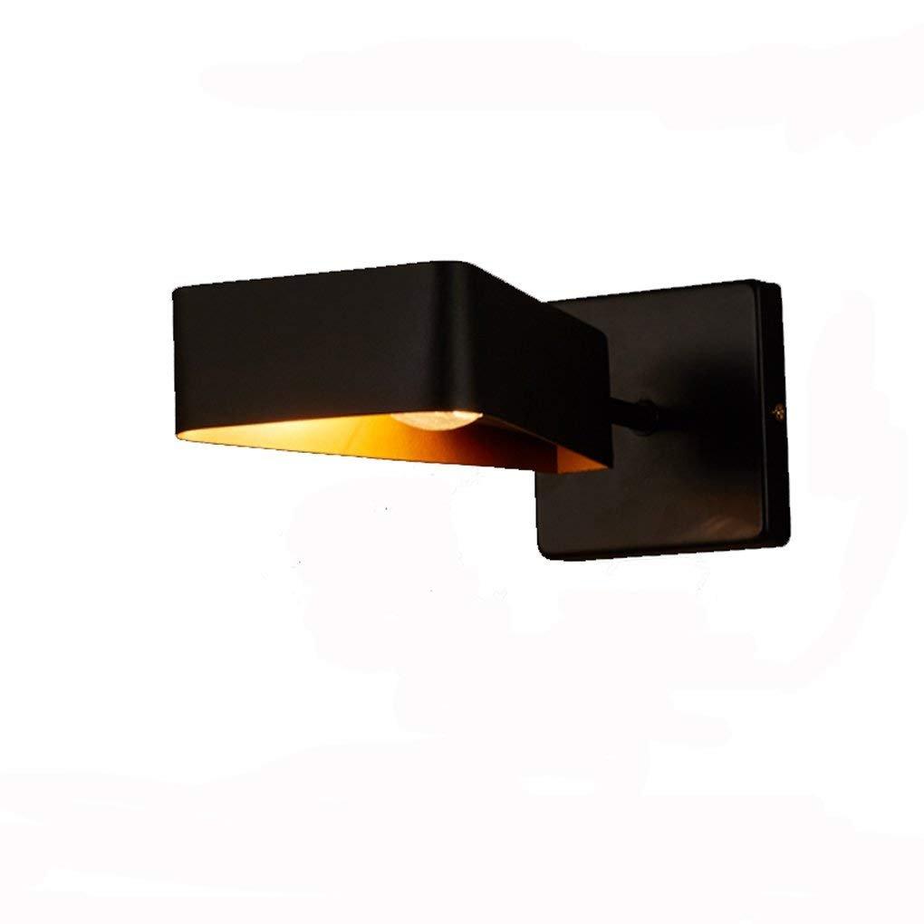 Lampada da parete in ferro, ristorante nordico del bar dello sbarra Cafe negozio di abbigliamento navata balconcino a letto singolo Lampada da parete in ferro E14 Facile da pulire (colore   Singolo)