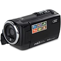 ByBike 1.5 Inch TFT 16MP 8X Full HD Digital Zoom Handycam Camcorder DV Camera Video Recorder Image Stablization(Black)