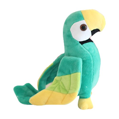 Mini Simulation Cartoon Cute Ins Lovely Parrot Bird Stuffed Animals Shaped 3D Pom Plush Pet Doll Soft Hugging Bed Bolster Cushion Nursery Decoration Baby Play Toy Sleeping Throw Household Pillow Gift