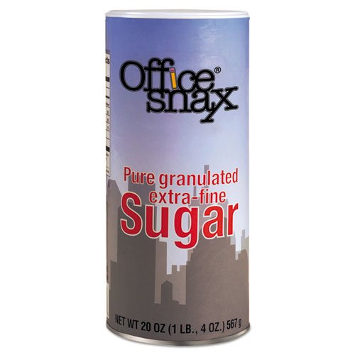 - Office Snax Sugar - Canister - 1.25 lb - Granulated Sugar - 24/Carton
