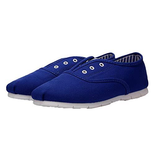 AllhqFashion Tacco Azzurro Tirare Ballet Materiale Puro Morbido FBUIDD007202 Basso Donna Flats HtArqPwH