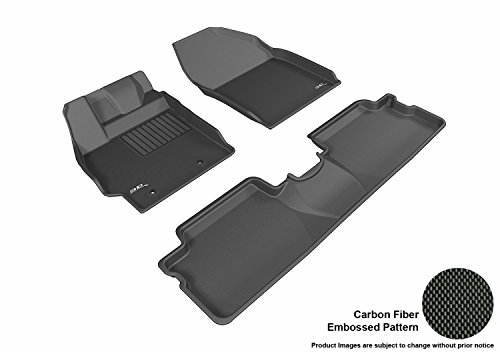 3D MAXpider All 2 Row Custom Fit Floor Mat for Select Scion XB Models - Kagu Rubber (Black)
