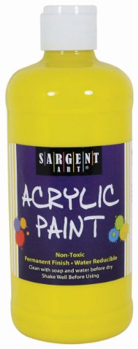 Sargent Art 24-2402 16-Ounce Acrylic Paint, Yellow