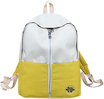 ALIKEEY Moda Mochila Teenage Girls Boys School Mochila Patchwork Estudiantes Bolsas Pasito A Movil Tuc Herrera Boquillas