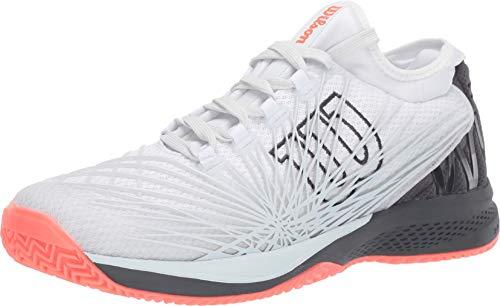 Wilson KAOS 2.0 SFT Mens Tennis Shoe - White/Ebony/Fiery Coral - Size 10.5 ()