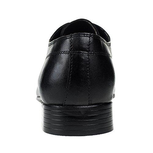 para Cuero Hombre de K 111 Negro KS® Zapatos Vestir amp;S WRpxYnpO