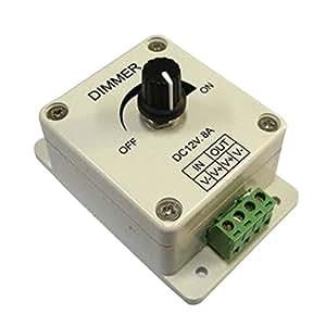 Leegoal LEDwholesalers LED Strip Lights PWM Dimming Controller For LED Lights or Ribbon, 12 Volt 8/10 Amp, 3301