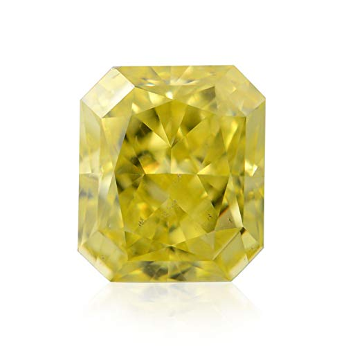 0.52Cts Fancy Intense Yellow Loose Diamond Natural Color Radiant Cut GIA Cert ()