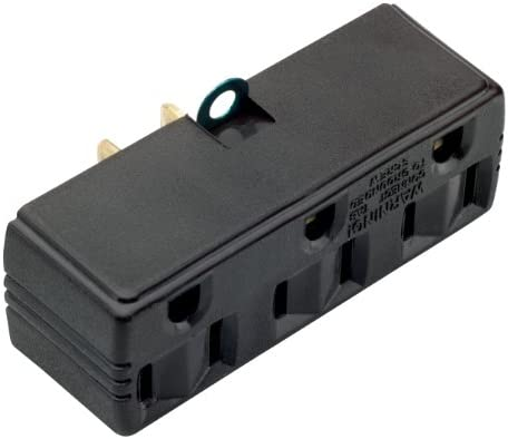 Legrand-Pass & Seymour 1219CC10 15-Amp Triple Adapter Great for Light Duty Applications, Brown