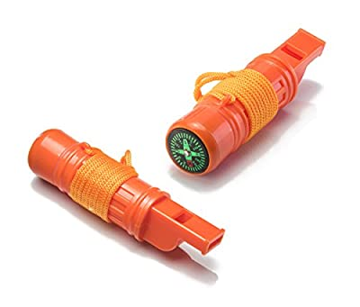 CCH5-1-2 5-in-1 Survival Whistle (2-Pack)