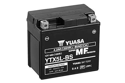 YUASA 61318 accu YTX5L-BS combipack met elektrolyt